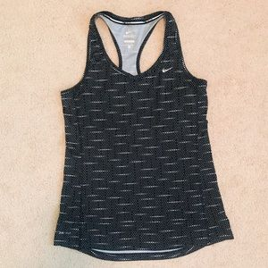 Nike Women's Miler Tank in Black and White